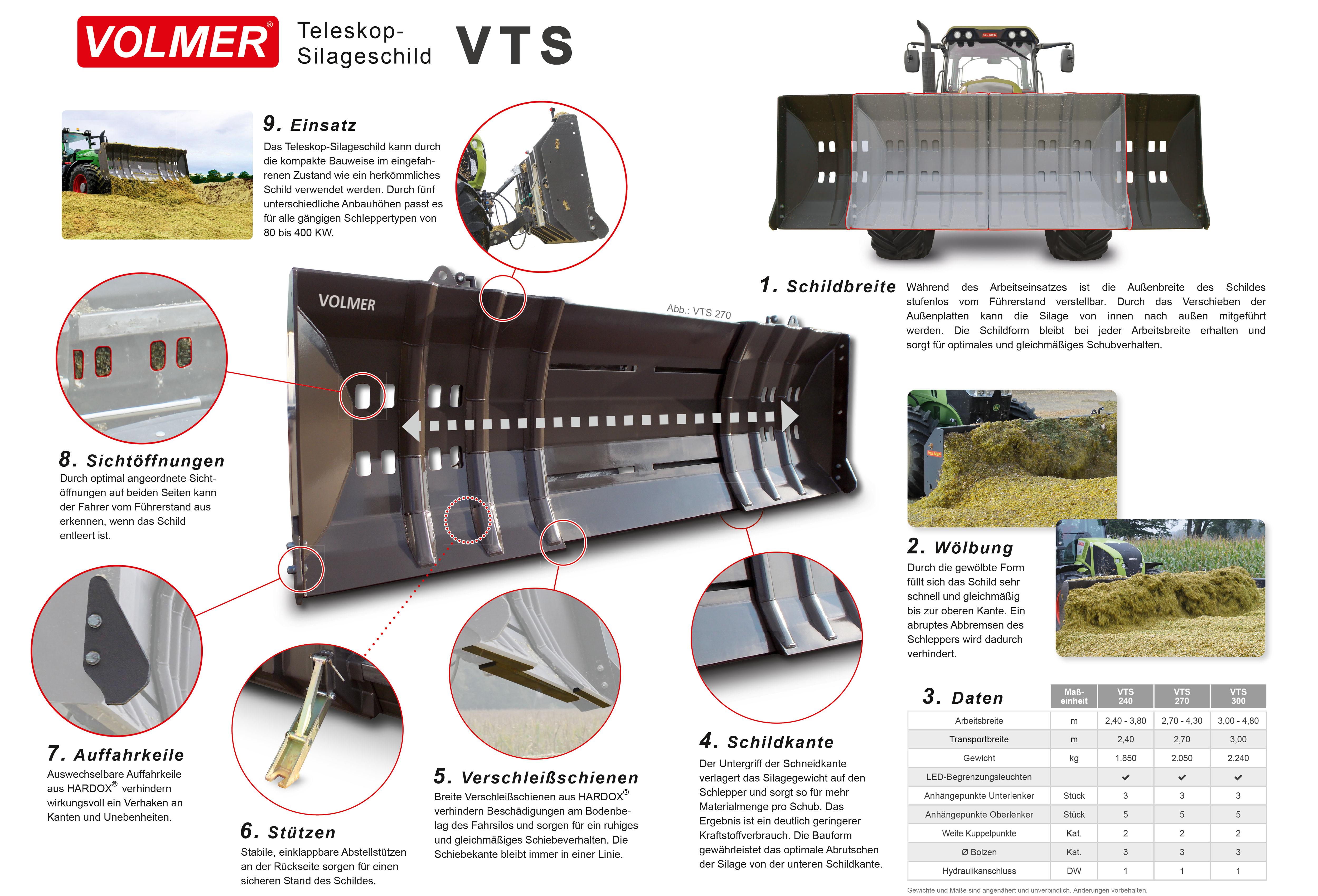 VOLMER Silageschild VTS mit Teleskoptechnik